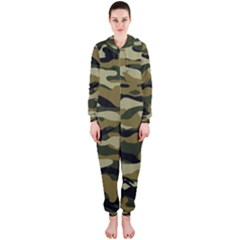 Military Vector Pattern Texture Hooded Jumpsuit (ladies)
