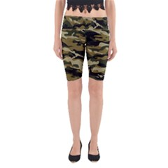 Military Vector Pattern Texture Yoga Cropped Leggings