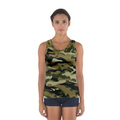 Military Vector Pattern Texture Women s Sport Tank Top