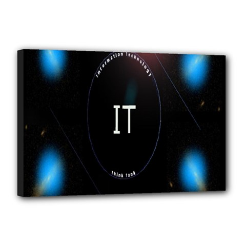This Is An It Logo Canvas 18  x 12