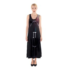 This Is An It Logo Sleeveless Maxi Dress