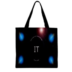 This Is An It Logo Zipper Grocery Tote Bag
