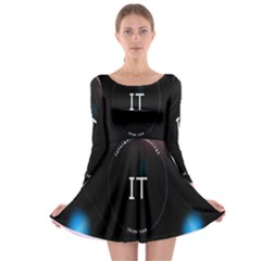 This Is An It Logo Long Sleeve Skater Dress