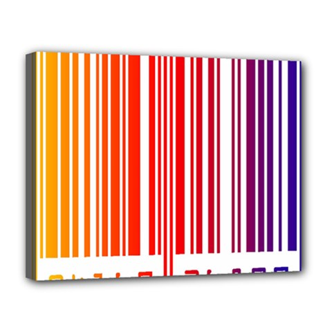 Colorful Gradient Barcode Canvas 14  X 11