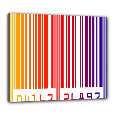 Colorful Gradient Barcode Canvas 24  X 20