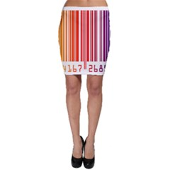 Colorful Gradient Barcode Bodycon Skirt
