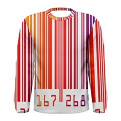 Colorful Gradient Barcode Men s Long Sleeve Tee