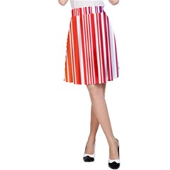 Colorful Gradient Barcode A-Line Skirt