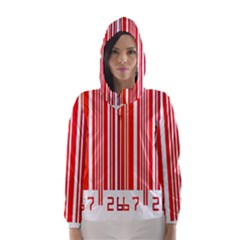 Colorful Gradient Barcode Hooded Wind Breaker (Women)