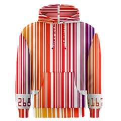 Colorful Gradient Barcode Men s Pullover Hoodie