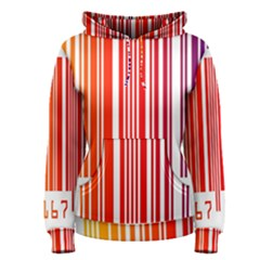 Colorful Gradient Barcode Women s Pullover Hoodie