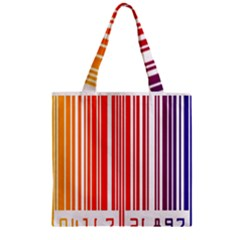 Colorful Gradient Barcode Zipper Grocery Tote Bag