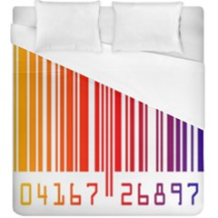 Colorful Gradient Barcode Duvet Cover (king Size)