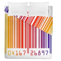 Colorful Gradient Barcode Duvet Cover Double Side (queen Size)