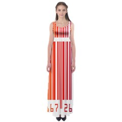 Colorful Gradient Barcode Empire Waist Maxi Dress