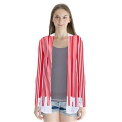 Colorful Gradient Barcode Cardigans