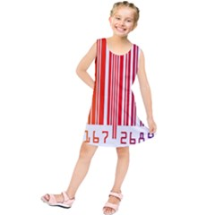 Colorful Gradient Barcode Kids  Tunic Dress
