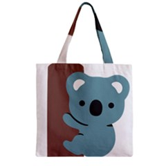 Animal Koala Zipper Grocery Tote Bag