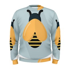 Animals Bee Wasp Black Yellow Fly Men s Sweatshirt