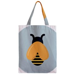 Animals Bee Wasp Black Yellow Fly Zipper Classic Tote Bag