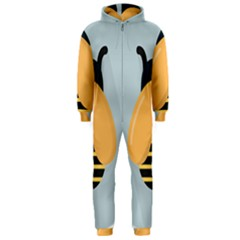 Animals Bee Wasp Black Yellow Fly Hooded Jumpsuit (men)