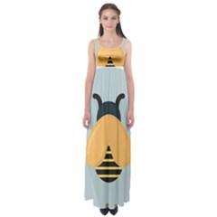 Animals Bee Wasp Black Yellow Fly Empire Waist Maxi Dress