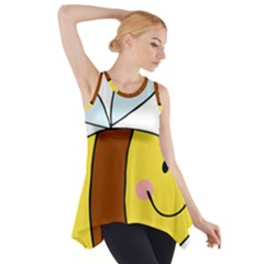 Animals Bee Wasp Smile Face Side Drop Tank Tunic