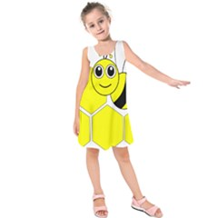 Bee Wasp Yellow Kids  Sleeveless Dress