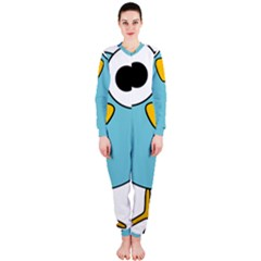 Bird Big Eyes Blue OnePiece Jumpsuit (Ladies)