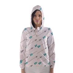 Arrow Quilt Hooded Wind Breaker (women)