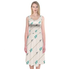 Arrow Quilt Midi Sleeveless Dress