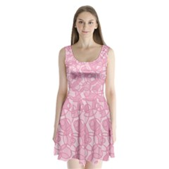 Pattern Split Back Mini Dress