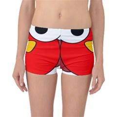 Bird Big Eyes Red Boyleg Bikini Bottoms