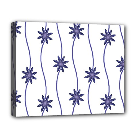 Geometric Flower Seamless Repeating Pattern With Curvy Lines Deluxe Canvas 20  X 16