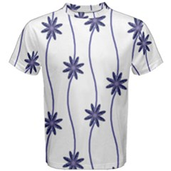 Geometric Flower Seamless Repeating Pattern With Curvy Lines Men s Cotton Tee
