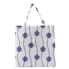 Geometric Flower Seamless Repeating Pattern With Curvy Lines Grocery Tote Bag