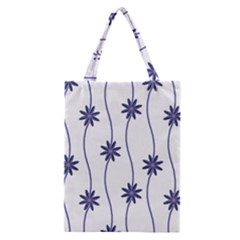 Geometric Flower Seamless Repeating Pattern With Curvy Lines Classic Tote Bag