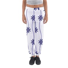 Geometric Flower Seamless Repeating Pattern With Curvy Lines Women s Jogger Sweatpants