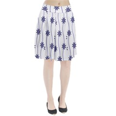 Geometric Flower Seamless Repeating Pattern With Curvy Lines Pleated Skirt