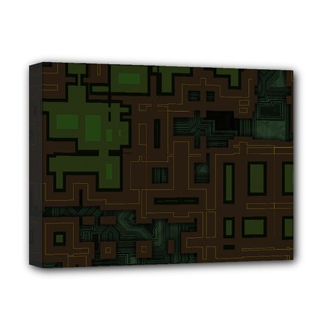 Circuit Board A Completely Seamless Background Design Deluxe Canvas 16  x 12