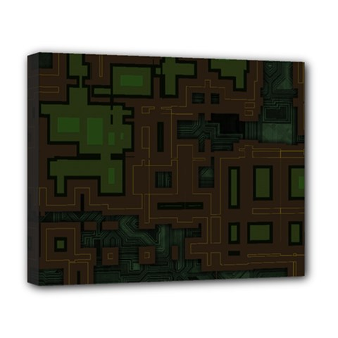 Circuit Board A Completely Seamless Background Design Deluxe Canvas 20  X 16