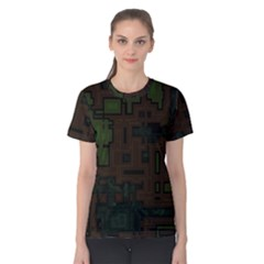 Circuit Board A Completely Seamless Background Design Women s Cotton Tee