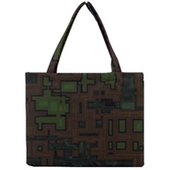 Circuit Board A Completely Seamless Background Design Mini Tote Bag
