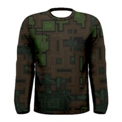 Circuit Board A Completely Seamless Background Design Men s Long Sleeve Tee