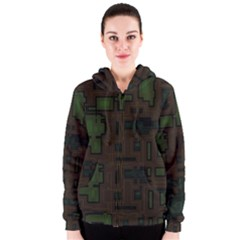 Circuit Board A Completely Seamless Background Design Women s Zipper Hoodie