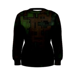 Circuit Board A Completely Seamless Background Design Women s Sweatshirt