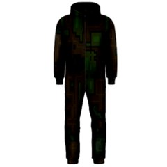 Circuit Board A Completely Seamless Background Design Hooded Jumpsuit (Men)