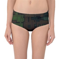 Circuit Board A Completely Seamless Background Design Mid-Waist Bikini Bottoms