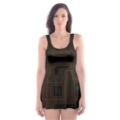 Circuit Board A Completely Seamless Background Design Skater Dress Swimsuit