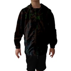 Circuit Board A Completely Seamless Background Design Hooded Wind Breaker (Kids)